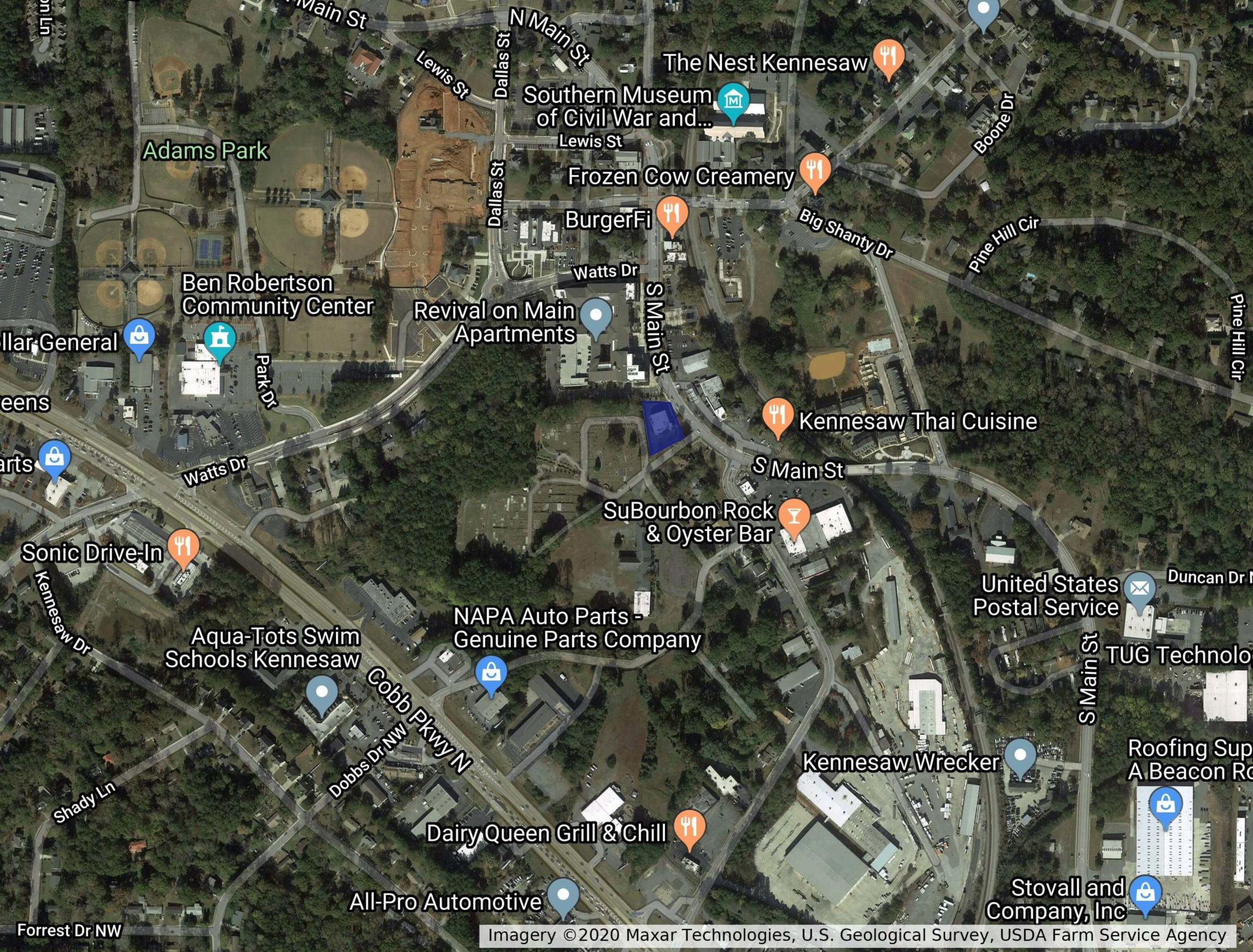 downtown kennesaw office map