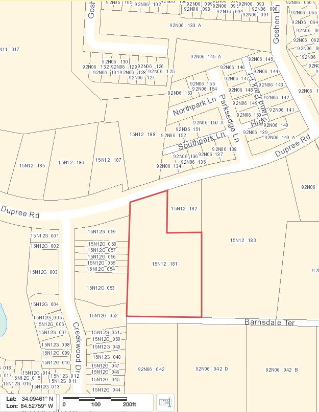127 Dupree Cherokee County GIS Map