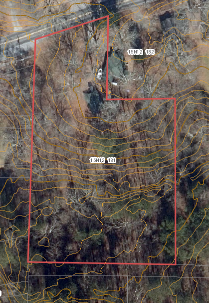 aerial topographic map dupree