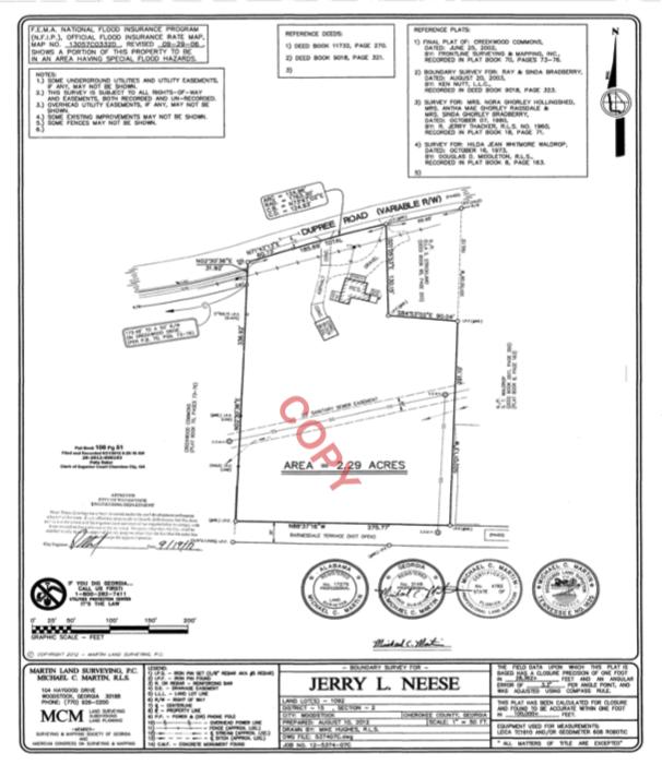 dupree land survey