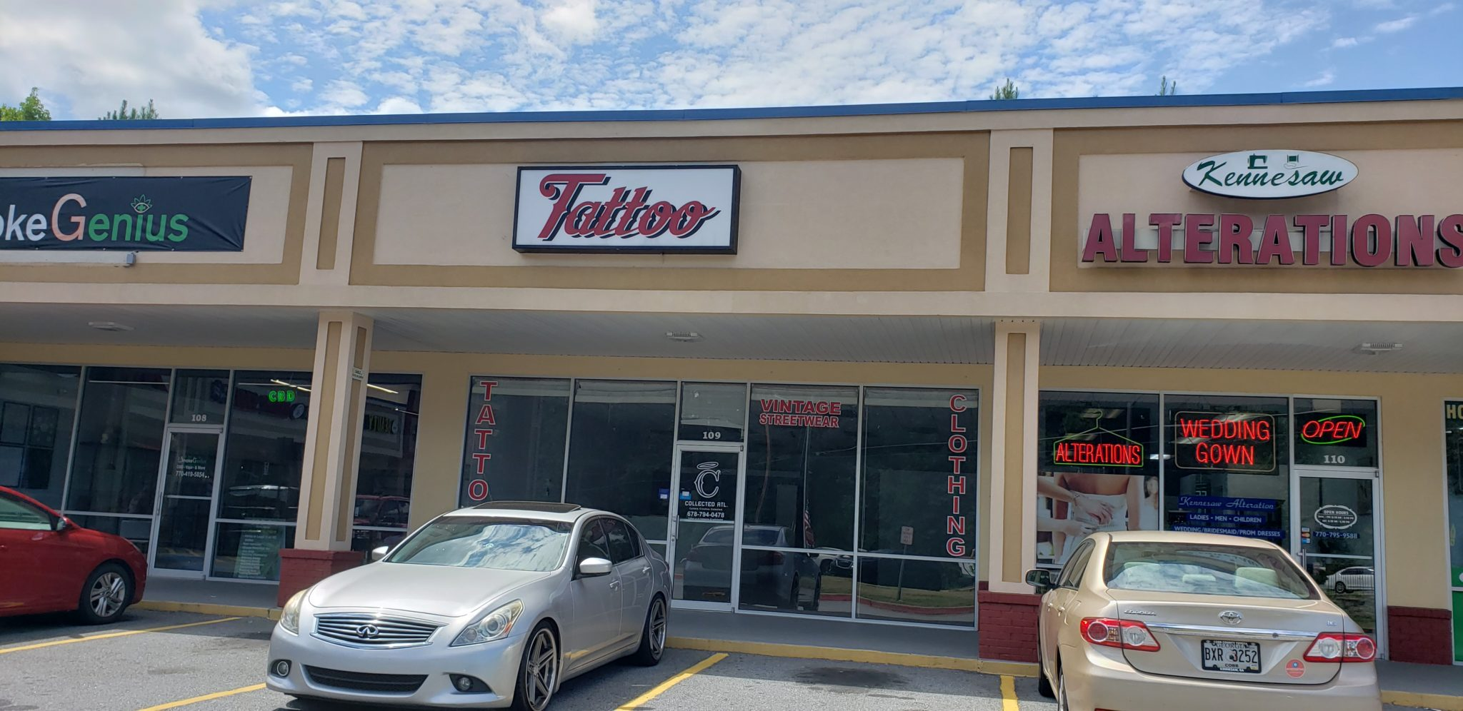 former tattoo retail space available for lease cobb county ga