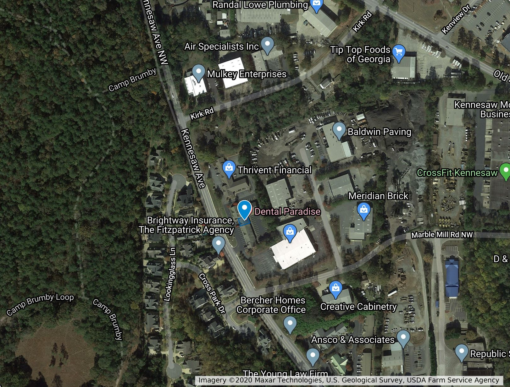 map view of orthodontic office for lease marietta